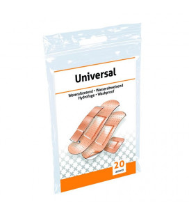 Pleisterstrips Waterafstotend assorti 1x20ST -