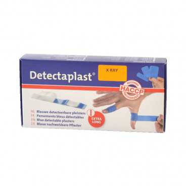 Pleister HACCP Blauw X-Ray 180 x 20 mm 50 st. ind. verpakt -