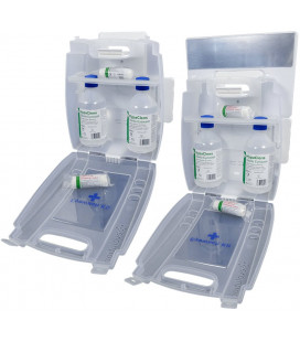 HypaClens Oogspoelstation incl 2 x 0,9% Sod Chl 500ml
