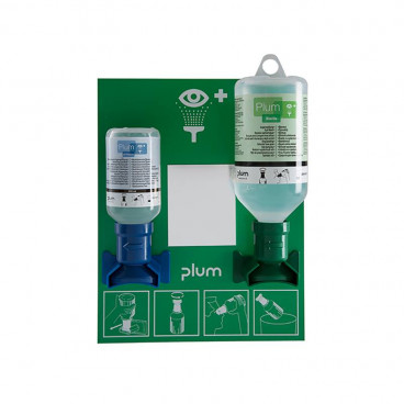 PLUM Oogspoelstation met 1 x 200ml Ph Neutr en 1 x 500ml 0.9%