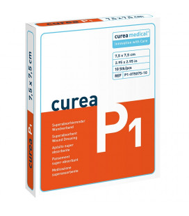 Curea P1 SuperCore wondverband 7,5 x 7,5 cm steriel 10St. -