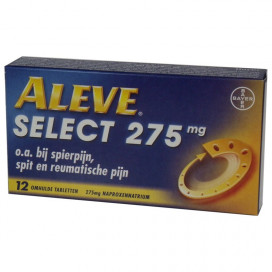 Aleve select 275mg 12 tabs